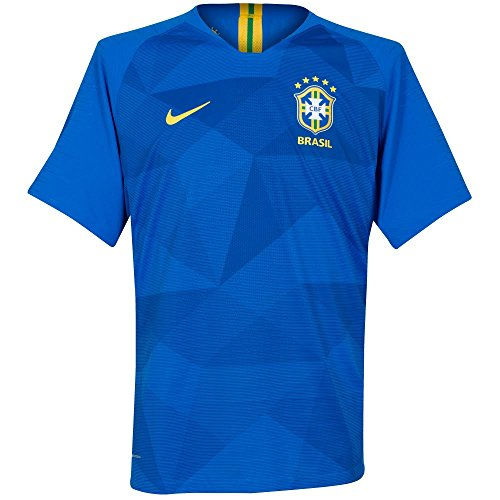5296b903f3d Nike Kinder Brasil CBF Away Stadium T-Shirt Soar Midwest Gold L