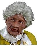 Horror-Shop Grumpy Granny Maske mit Perücke als Hochwertige Faschingsverkleidung