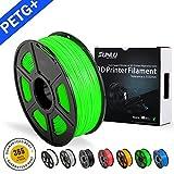 SUNLU PETG green 3D Printer Filament, PETG green Filament 1.75 mm, 3D Printing filament Low Odor Dimensional Accuracy +/- 0.02 mm, 2.2 LBS (1KG)