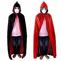 Labellevie Cape à Capuchon Adulte Unisexe Halloween Deluxe Velours Costume Déguisement Mascarade 90CM