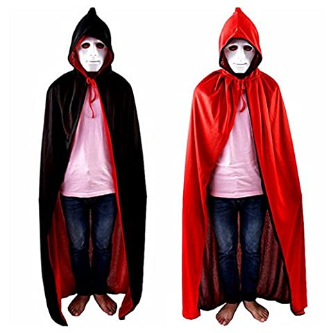 Dracula Costume - Labellevie Cape à Capuchon Adulte Unisexe Halloween
