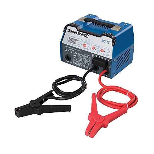 Silverline 549095Carica Batteria Starter Automatico 12a 6/12V