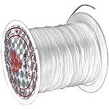 Hilo elastico - TOOGOO(R)Hilo elastico de perlas de material hilado 1 mm transparente