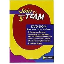 JOIN THE TEAM 5E DVD-ROM RESSOURCES POUR LA CLASSE Livre scolaire by Christian Gernigon (2007-08-30)