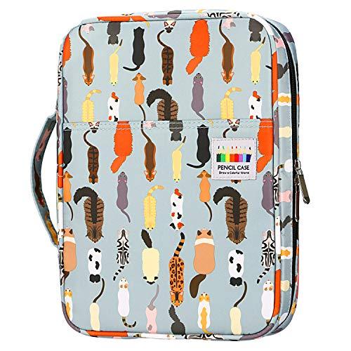 YOUSHARES 166 slots caja de lápices de colores, 110 ranuras gel plumas FO organizador de la caja para colorear, práctico soporte de lápiz de color multicapa 12