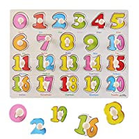Big Promotion! Alphabet Blocks Learning Puzzle Wooden ABC Letters Colorful Educational Puzzle Toy Board For Toddlers and Kids, Multi-Colored Jigsaw Blocks