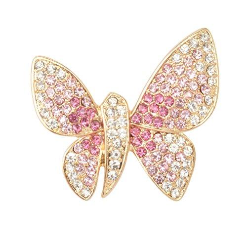 LUOEM Schmetterling Strass Broschen Anstecknadel Geschenk für Frauen Mädchen...
