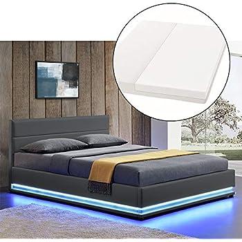 Designer Bett mit Bettkasten ELSA Samt-Stoff Polsterbett