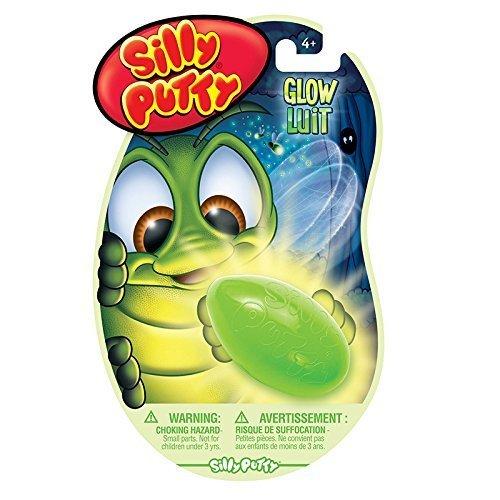 Crayola Silly Putty (Crayola LLC Silly Putty Glow in The Dark 1.4 x 7 x 4.5 inches Blue / Almond)