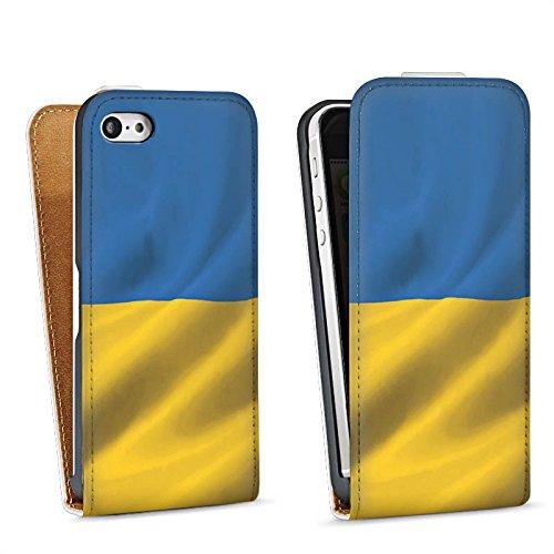 Apple iPhone 6 Housse Étui Silicone Coque Protection Ukraine Drapeau Drapeau Sac Downflip blanc