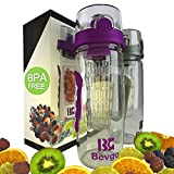 Bevgo Fruit Infuser Water Bottle - Large 1 Litre - Save...