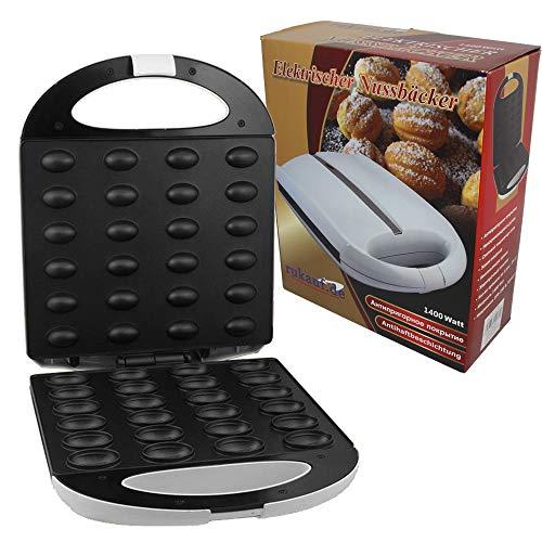 Piastra per waffle forma di noce da 24 stampi