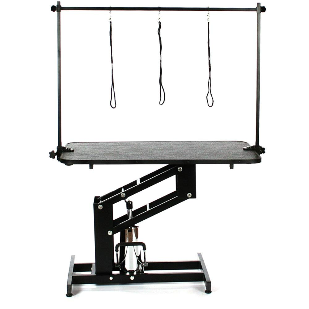 The Fellie Dog Grooming Table Adjustable Professional Heavy Duty Hydraulic Pets Grooming Table, 110x61x57-101cm