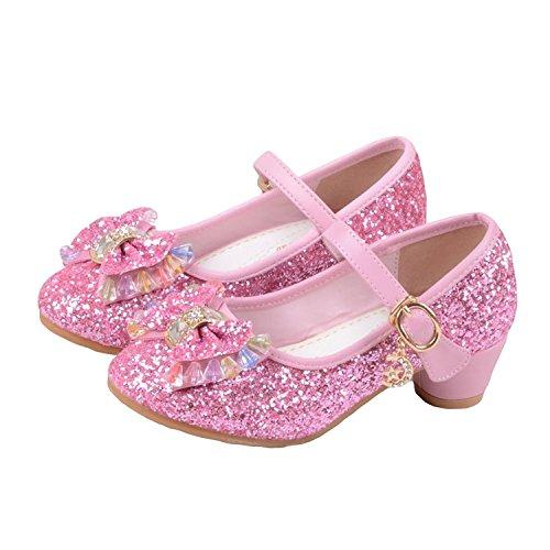 Kidslove Prinzessin Schuhe Kostüm Schuhe Karneval Cosplay Mädchen Absatz-Schuhe Stöckelschuhe