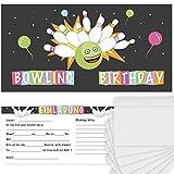 Postkartenschmiede 12 Bowling Einladungskarten Geburtstag Kinder Jungen, Einladung Kindergeburtstag Kegeln, Kegel-Einladungen, Geburtstagseinladungen Kegel-Party, Bowling-Party