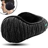 Dimples Excel Unisex Knit Ear Muff Pieghevole scaldini per Le Orecchie Inverno Outdoor paraorecchie Taglia Regolabile (1 Pacco/Nero)