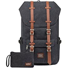 """Rucksack Damen Daypack Herren Schulrucksack KAUKKO 17 Zoll Laptop Backpack für 15"""" Notebook Lässiger Daypacks Schultaschen of 2 Side Pockets für Wandern Reisen Camping (CSchwarz 2PCS)"""