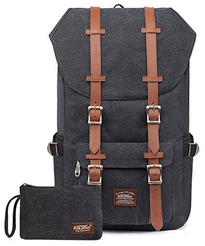 """KAUKKO Rucksack Damen Herren Studenten 17 Zoll Backpack für 15"""" Notebook Lässiger Daypacks Schüler Bag für Wandern 45 cm, 22.4 L"""