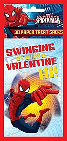 Paper Magic Valentine Treat Bags Spiderman (30 Count) by Paper