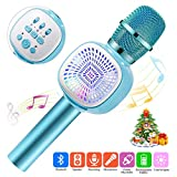 Microfono Karaoke Bluetooth, ERAY Microfono Karaoke per bambini iOS/Android/PC/iPad / 1800 mAh/scheda TF, Cantare/Riproduzione musica/Registrazione vocale/Interruttore vocale, Blu