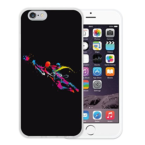 iPhone 6 6S Hülle, WoowCase Handyhülle Silikon für [ iPhone 6 6S ] Coloriertes Graffiti Handytasche Handy Cover Case Schutzhülle Flexible TPU - Schwarz Housse Gel iPhone 6 6S Transparent D0007