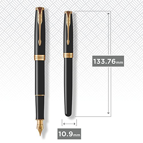 Best Price Parker Sonnet Fountain Pen – Black Lacquer Gold Trim with Custom Engraving on Line