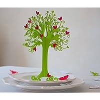 Kommunion |Herzbaum| Tischdeko| mit roten Herzen | höhe 23cm maigrüm 1stk mit 10 herzen zum selbst ankleben