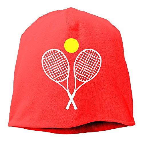 Bgejkos Shirlay Tennis Racket Ball Christmas Santa Warn Winter Beanie Hats for Men