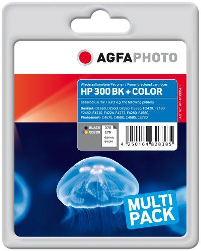 AgfaPhoto APHP300SET Tinte für HP DJD2560, 9 ml/12 ml schwarz/farbig