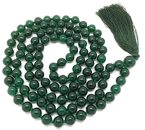 green-jade-japa-mala-108-beads-each-8-mm-wide-with-knots-in-between-plus-1-larger-guru-bead-38-inche
