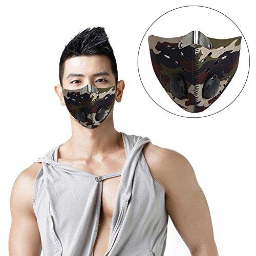 Generp Vlies Filter Motorrad Gesichtsmaske, Halbmaske mit Aktivkohle gefüttert, Mountainbike-Schutzmasken