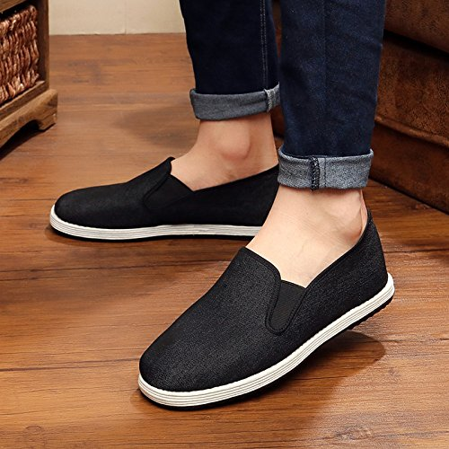 LvYuan Hommes Chaussures Tissu Traditionnel Chinois / rétro Casual Breathable Square Bouche / Kung Fu Chaussures / Arts Martiaux / Tai Chi Chaussures / chaussures melaleuca faits à la main Black