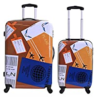 Karabar Falla Set of 2 Hard Suitcases, World Travel