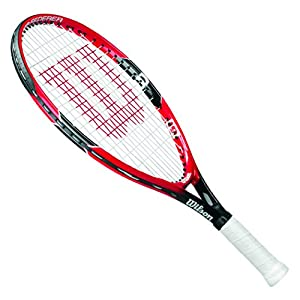 Wilson Tennis Racket for Kids, Ages 5-6, All Courter, Roger Federer 21, Red/Grey Review 2018