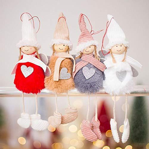 Weihnachtssüßer Engel Plüsch Puppe Anhänger Weihnachten Dekoration Haus Ornamente Weihnachtsbaum Kreative Deko Home Hängende Dekoration