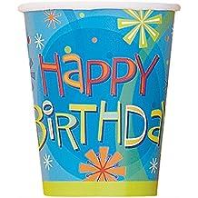 Partido Ênico 9 oz estelares cumpleaños Copas de papel (paquete de 8)