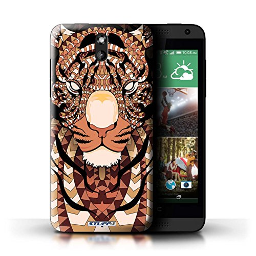 Stuff4® Hülle/Hülle für HTC Desire 610 / Tiger-Orange Muster/Aztec Tier Muster Kollektion