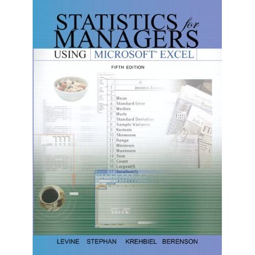 Statistics for Managers Using Microsoft Excel by Mark LBrnson (2007-07-30)