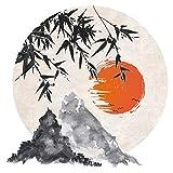 Wandtattoo Asien Asiatisches Landschaftsbild Wandsticker Wanddeko Wohnzimmer