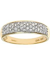 Naava Damen-Ring 9 Karat (375) Weißgold 24 Diamanten DR1112W-K-p