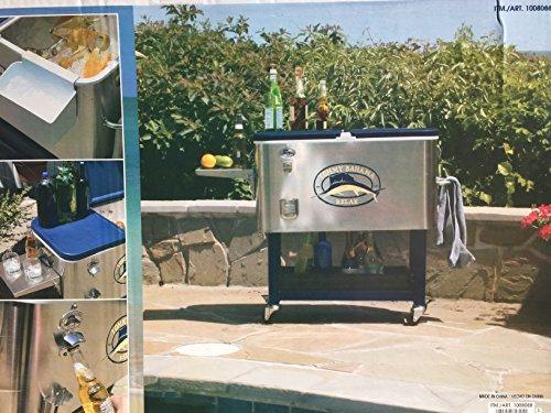 Tommy Bahama 94,6Liter Edelstahl rollbare Kühlbox