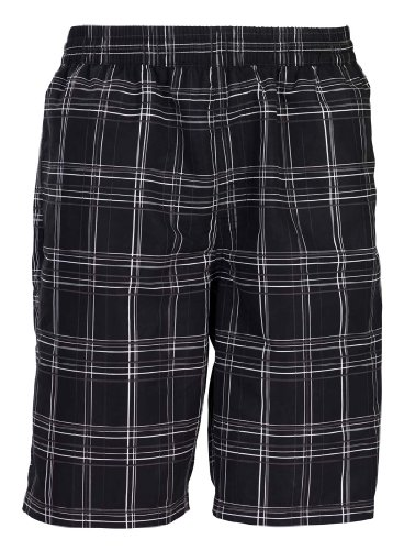 Olibia Mar - men's swim shorts, plaid black