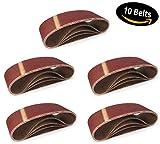 10 Stück Schleifbänder 75 x 533 mm - für Bandschleifer Korn 240