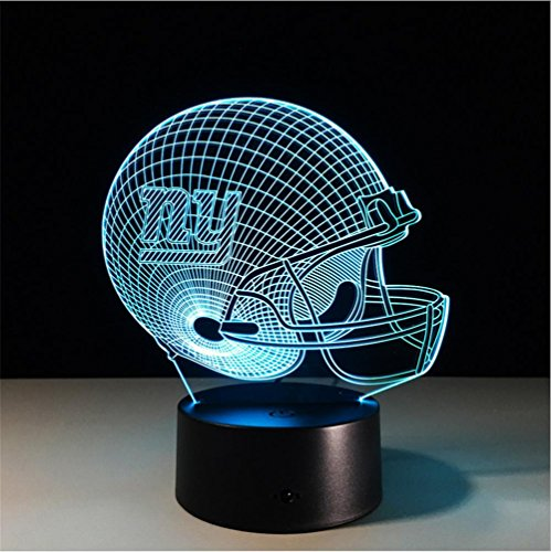 Lh&Fh Football New York Giants 3D Lichter Bunte Bluetooth Stereo Mit 5 Farbwechsel LED Geschenk Lampe