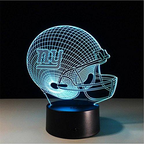 Fünf-licht-leuchter-glühlampen (Lh&Fh Football New York Giants 3D Lichter Bunte Bluetooth Stereo Mit 5 Farbwechsel LED Geschenk Lampe)