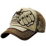 UFACE Stickerei-Buchstabe-Faust-Niet-Baseballmütze-Visier Sommer-Niet-Kappen-Hüte für Männer Frauen (Kaffee)