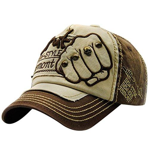 stabe-Faust-Niet-Baseballmütze-Visier Sommer-Niet-Kappen-Hüte für Männer Frauen (Kaffee) ()