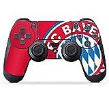 DeinDesign Folie Skin Sticker für Sony Playstation 4 Controller PS4 aus Vinyl-Folie Aufkleber FCB Fanartikel Merchandise FC Bayern München