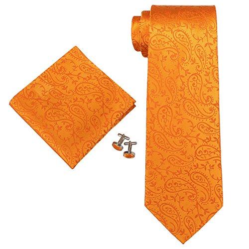 landisun Paisley, Set de Cravates Homme Orange (44G Bright Orange)