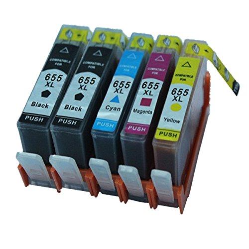 Preisvergleich Produktbild Generisch Kompatible Tintenpatronen Ersatz für HP 655XL 655 XL für HP655 für HP655XL Tintenpatronen Hohe Kapazität kompatibel für HP Deskjet Ink Advantage 3525 4615 4625 5525 6520 6525 Tintenpatronen für Inkjet Drucker (1 Schwarz,1 Cyan,1 Magenta, 1Gelb)
